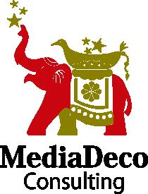 メディアデコ コンサルティングのロゴマークです